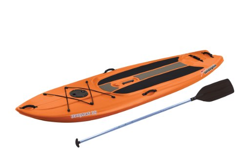 SUNDOLPHIN Sun Dolphin Seaquest Stand Up Paddleboard (Tangerine, 10-Feet)