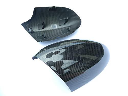 CaCsP Voll Carbon Spiegel Kappen Rückspiegel Außenspiegel Rückspiegel Spiegelkappen Replacements Mirror kompatibel mit BMW M3 E92 E90 E93 1er E82 1erM