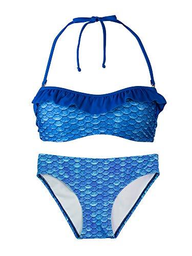 Fin Fun Bandeau Bikini Einstellen, Arctic Blue Oben, Arctic Blue Unterseite, Mädchen Klein