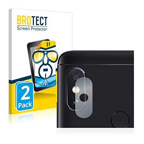 BROTECT Schutzfolie kompatibel mit Xiaomi Mi A2 Lite (NUR Kamera) (2 Stück) klare Bildschirmschutz-Folie