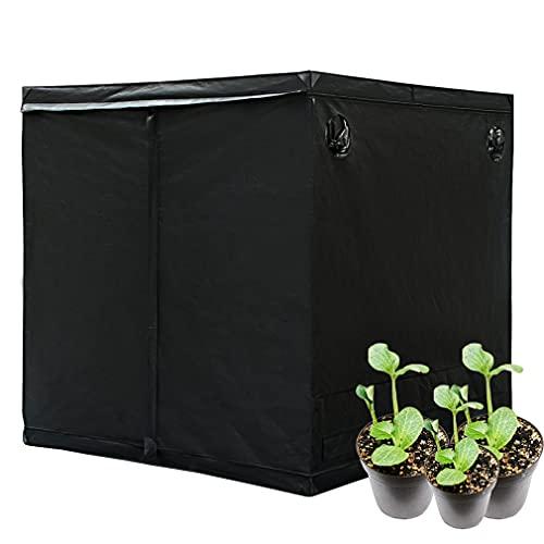 Growzelt Grow Tent,Indoor Growbox Growroom Growschrank Darkroom Pflanzenzelt Gewächshaus Zuchtzelt,Growschrank für Homegrow,Lichtdicht und Wasserdicht Pflanzzelt,Höhe 200cm (200*200*200 cm)