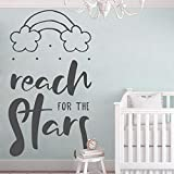 Nordic Style Schlafzimmer Dekoration Zitate Greifen Sie nach den Sternen Wandtattoo...