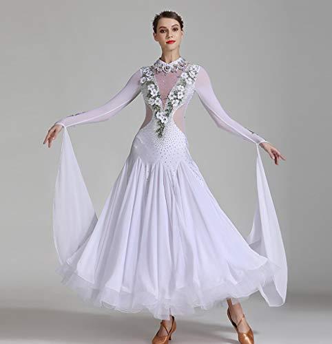 Z&X Moderne dansjurk voor vrouwen grote pendelrok balzaal kostuum wedstrijd dansjurk spandex / 40D brokat mesh/ijs silk/hoge dichtheid garen