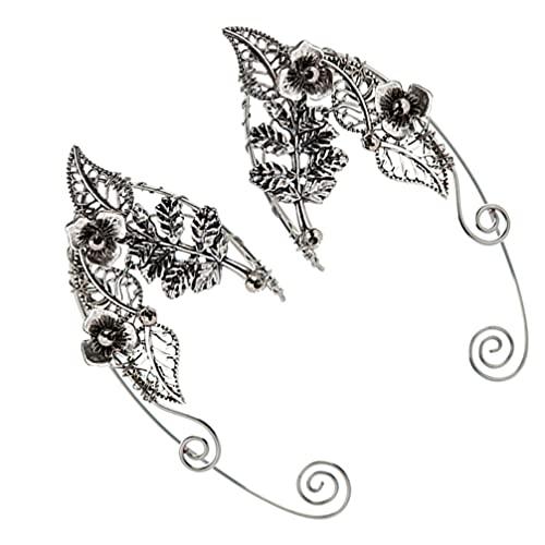 Lurrose 1 Paar Elf Ohr Manschetten Vintage Clip- on Ohrringe Ohr Wrap Crawler Haken Ohrringe Nicht- Piercing Manschette Ohrringe für Frauen Mädchen