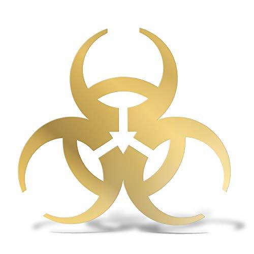 erreinge PRE-Spaced Sticker ORO 15cm - Biohazard Nuklear Symbol Radioaktiv - Aufkleber Decal Vinyl Wandgemälde Laptop Auto Motorrad Helm Wohnmobil