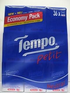 Tempo Pocket Tissues Neutral X 36pcs Petit