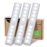 Luz Armario LED Sensor Movimiento Interior,Regleta Luces LED a Pilas Cocina Debajo Mueble Tira Magnética Adhesiva Escaleras Iluminacion sin Cables Detector Movimiento Barra Luz Nocturna para Gabinete