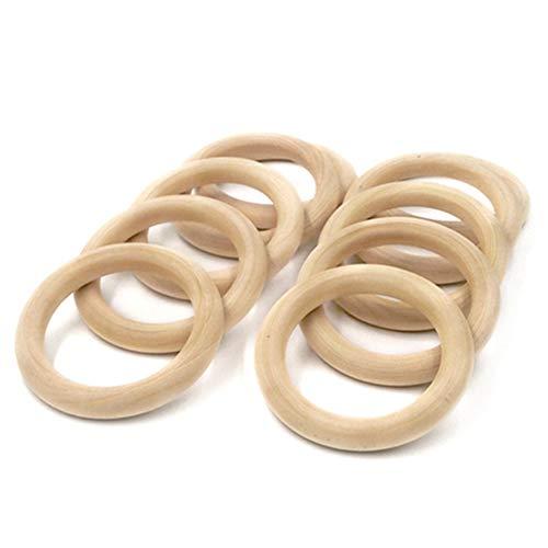 Egurs houten ring 20 stuks natuurlijke houten ringen houten cirkels