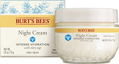 Burt's Bees Intense Hydration Night Cream, Moisturizing Night Lotion, 1.8 Oz (Package May Vary)