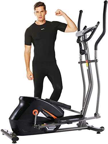 ANCHEER Elliptical Machines, Magnetic Elliptical Trainer with APP LCD Monitor and 10-Level Resistance Smooth Driven for Home Use Max Weight Capacity 390LBS