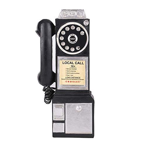 Adornos Para Teléfonos Fijos Retro Spin Classic Look At The Dial Teléfono Público Montado En La Pared Teléfono Vintage Hucha Modelo Retro Booth Decoración Del Hogar, Decoraciones (ne(Color:Escribe un)