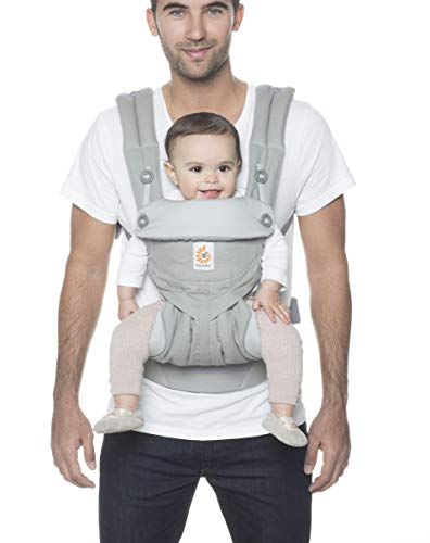 Ergobaby 360 All-Position Baby Carrier with Lumbar Support (12-45 Pounds), Pearl Grey