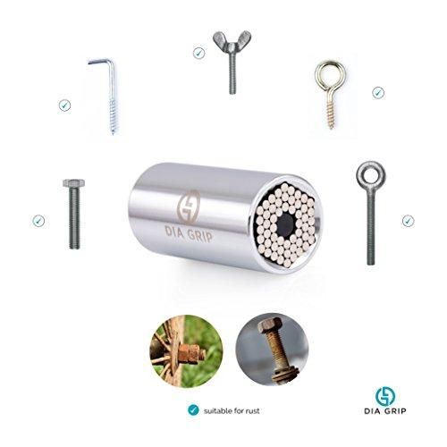DIA-GRIP Universal Socket 3pcs Tool set (7-19mm) |Bushing Ratchet wrench set | Tools for men set | Wrench Power Drill Adapter Set | Super Socket Professional Repair Tool | Handyman special gift…