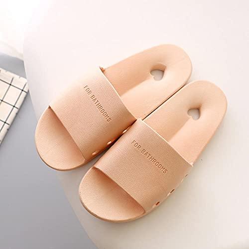 ypyrhh Sandalias Cómodo Casual Zapatos de Playa,Zapatillas para goteras para el hogar, Zapatillas de baño Antideslizantes-Apricot_36-37,Zapatillas Flip Flops Sandal