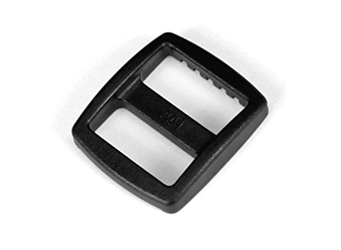 3/4 inch Black Plastic Wide Mouth Tri-glide Slide - 10 pieces - from Strapworks