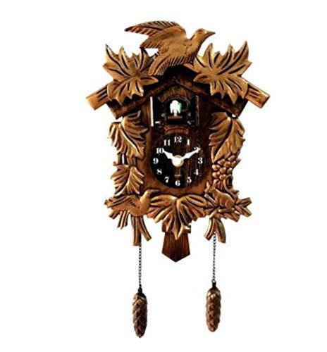 EDCV Wandklok Koekoek Wekker Horloge Moderne Korte Kinderen Eenhoorn DecoratiesKoekoeksklok Woonkamer Wandklok Vogel, A2072