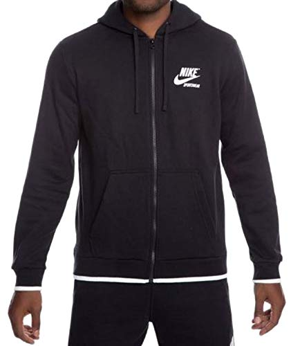 Nike Men's Sportswear Archive Full Zip Hoodie AJ7925-010 Black/White (Medium)