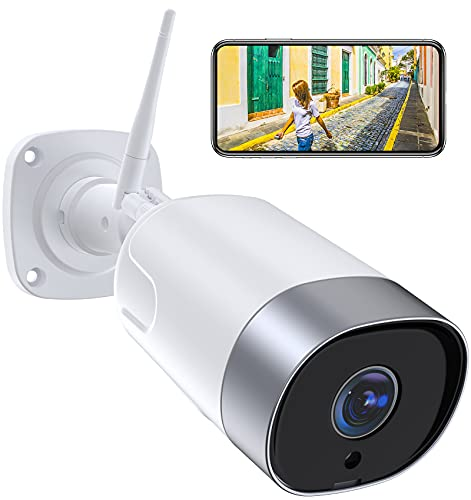 Supereye FHD 1080P Telecamera IP Esterna,Telecamera di Sicurezza con Rilevazione Movimento e Audio Bidirezionale,IP66 Visione Notturna Impermeabile,compatibile con Alexa