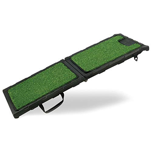 Gen7Pets Natural Premium Step Pet Ramp for Dogs and Cats – Folds Flat, Lightweight and Strong Grip