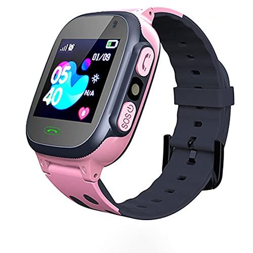 Reloj de Teléfono Inteligente para Niños, Multifunción Complemento de Posicionamiento para Estudiantes Rastreador de Ubicación,Pink