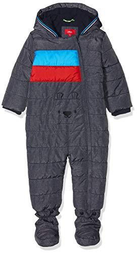 s.Oliver Baby-Jungen 59.909.85.8866 Schneeanzug, Blau (Dark Blue Melange 59w1), (Herstellergröße: 74)