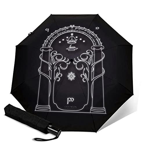 Lord Rings Paraguas automático de tres plegables, ligero y portátil, tanto para fines soleados como lluviosos, sombreado al sol y a prueba de rayos UV