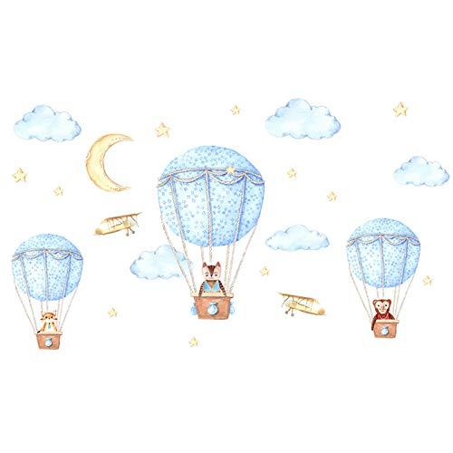 Dibujos Animados Globo De Aire Caliente Pegatinas De Pared Habitación De Niños Jardín De Infantes Habitación De Bebé Calcomanías De Pared Diy Arte Vinilo Murales