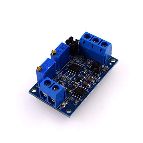 nbvmngjhjlkjlUK Strom-zu-Spannung-Modul, Hw685 Strom-zu-Spannung-Modul 0/4-20Ma bis 0-3.3V5V10V Spannungswandler-Signalumwandlung unterstützt mehrere Bereiche (blau)