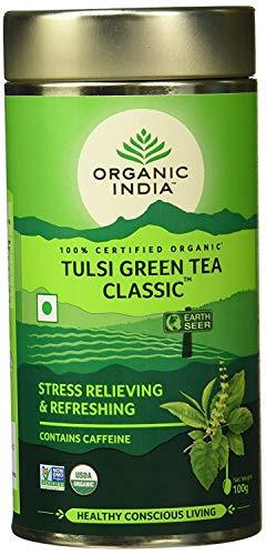 Organic India Organic Tulsi Tea - Green Tea Classic - Loose Leaf - 100gm