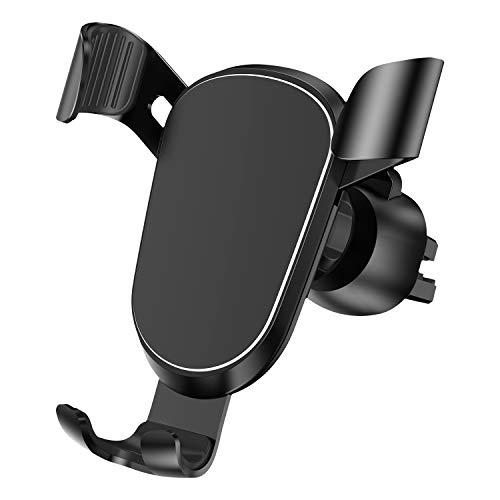 KUTUKU Handyhalter fürs Auto, Metall Universal KFZ handyhalterung Auto lüftung Kompatibel für iPhone, Samsung, Huawei, Oneplus, Xiaomi, Google und andere Smartphone(Schwarz)