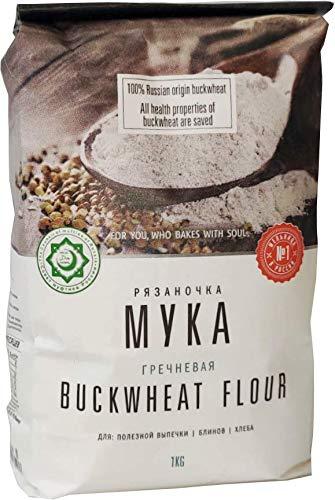そば粉 バックウィートフラワー 1Kg リャザノチカ Ryazanochka buckwheat flour 1kg non gmo halal ハラル認証 お菓子作り ガレット 自家製そば グルテンフリー ケーキ 麺類 製菓材料 パン作り パン ブレッド
