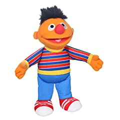 CUDDLY FUN: This soft and snuggly Sesame Street mini plush Ernie toy is the perfect pint-sized pal for playtime and on-the-go family adventures! NICELY SIZED AND PORTABLE: Cute and cuddly, this Sesame Street mini plush Ernie is sized right for little...