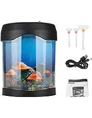Alsona USB oświetlenie do akwarium biurko akwarium zbiornik na biurko LED mini akwarium akwarium nastrój oświetlenie LED zmieniająca kolor lampka nocna