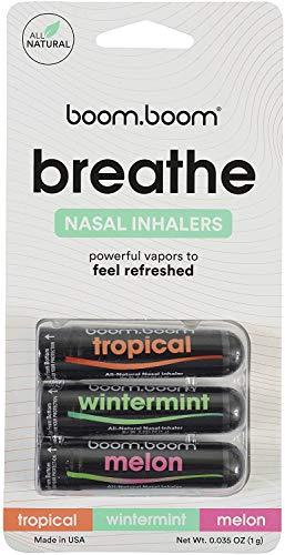 Aromatherapie-Naseninhalator (3er Pack) von BoomBoom | Nasal Inhalator Stick sorgt für ein frisches Kühlgefühl | Hergestellt aus ätherischen Ölen + Menthol (Original Variety Pack)