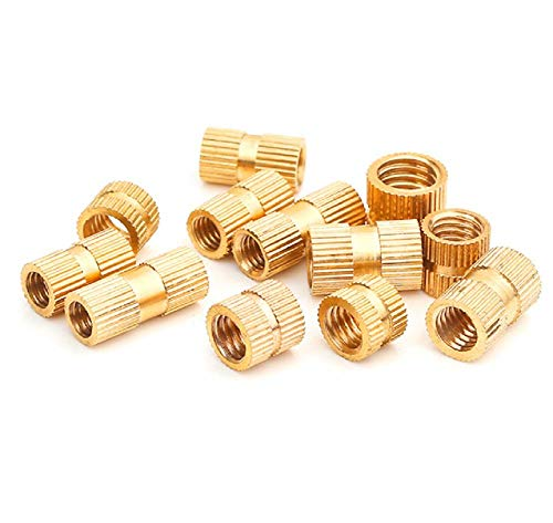 QingT Double Pass Copper knurled nut/Injection Copper Flower mother/M6M8M10 Outer Diameter 7.3 8.3 10-68.314 (10 Tablets)