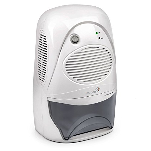 Ivation Powerful Mid-Size Thermo-Electric Dehumidifier - Quietly Gathers Up to 20oz. of...