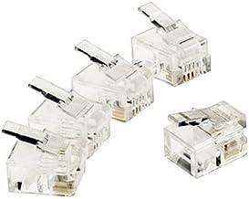 Conector RJ11 (10ud/Bolsa) Transparente, Cablepelado®