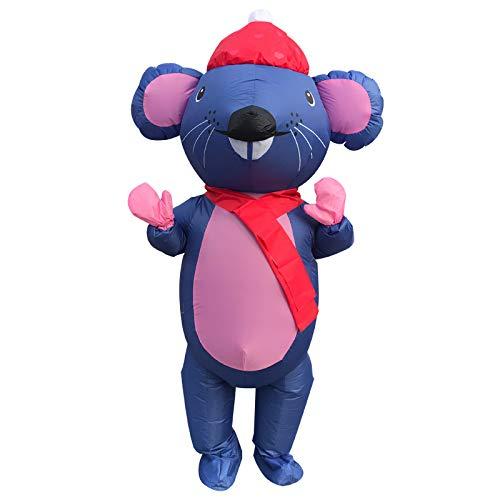VESIFA Cartoon Kostüm Weihnachten Kleid Halloween aufblasbare Kostüm Tier Valentinstag Party Kleid Mr. Maus