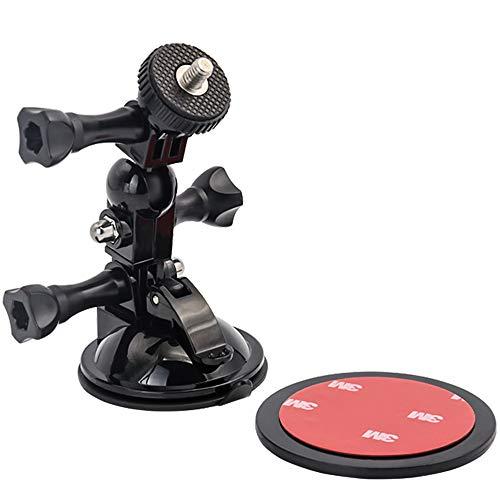 EXSHOW Kamerasaugnapfhalterung mit 1/4-20 Adapterschraube und 360 Grad Drehung für GoPro Hero 7 6 5 4 3+ 3 2 1