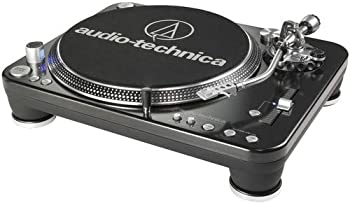 Audio-Technica AT-LP1240-USB Direct-Drive Professional DJ Turntable  USB & Analog  3 Speed For Demanding DJ Use Fully Manual with Start & Stop Brake Control Direct Drive High Torque Pro Anti-Resonance Damped Die-cast Platter