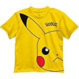 Pokemon Pikachu Big Boys Graphic T Shirt (8, Yellow)
