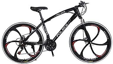 Road Bike, 26 Inch Wheels, 21 Speed 700c Non-Slip Dual Disc Brake Bicycle,Black