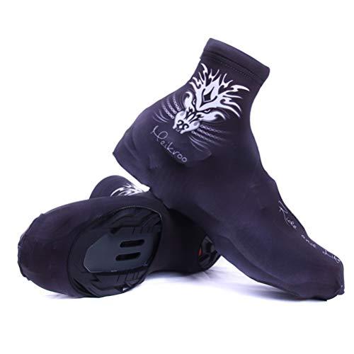 LBPF Cubrezapatos de ciclismo MTB Mountain Bike Bike Calzado Cubiertas para zapatos de ciclismo Ultraligero impermeable resistente al viento al aire libre Softshell para hombres y mujeres, M