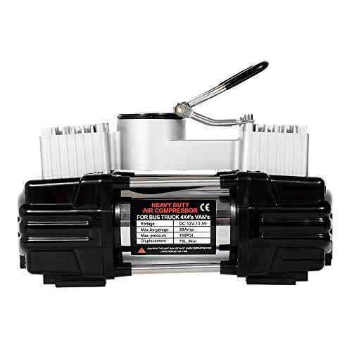 JTRHD Bomba de compresor de Aire Neumático del 12V DC Bomba del compresor de Aire portátil for el Coche y la Motocicleta o la natación Anillo 276W 150PSI para Coche, Motocicleta, Bicicleta