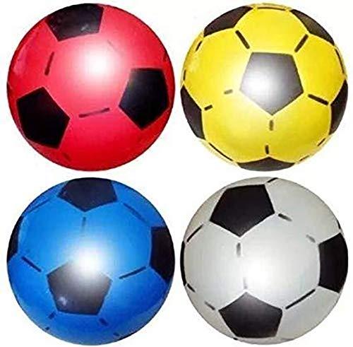 SourceDIY Ballon de football 22,5cm dégonflé pour enfant Convient pour un usage intérieur et extérieur, pour l'école, les fêtes d'anniversaire, les kermesses, livré dans des couleurs assorties, Pack of 40