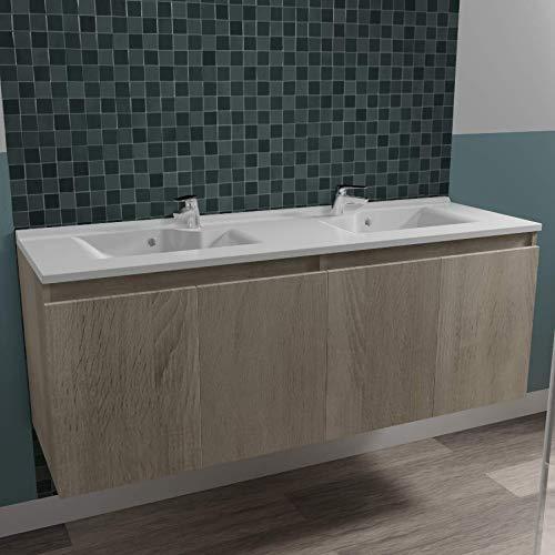UneSalleDeBain Caisson Double Vasque PROLINE 140 - Cambrian Oak