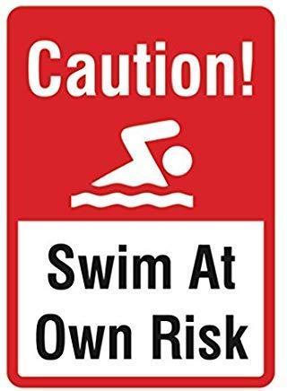 Schwimmbad Warnschild Wasserschild