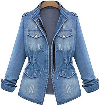 SUSIELADY Women Casual Denim Jacket Jeans Tops Half Sleeve Trucker Coat Outerwear Girls Fashion product image