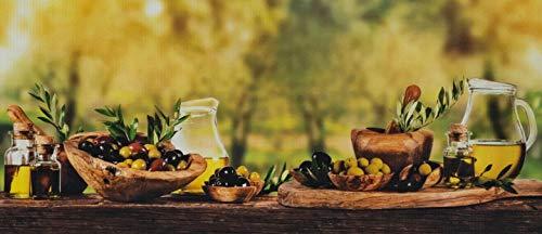WohnDirect Küchenläufer für Innen bis 10m Länge • 100% Polyester Küchenläufer rutschfest & leicht abwaschbar • 50 x 180 cm