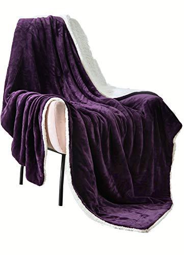 VOTOWN HOME Sherpa Blanket Twin Extra Soft Plush Blanket Cozy Warm Reversible...